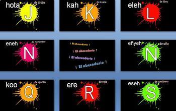 Spanish - Alphabet - Abecedario - Alfabeto - complete lesson with crazy song!