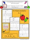 Spanish Alphabet Activities A-Z Actividades del Abecedario A-Z