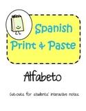 Spanish Interactive Notebook Alphabet Alfabeto