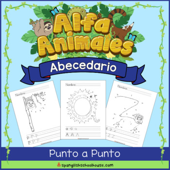 Spanish Alphabet Animal Dot to Dot