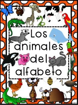 Spanish Alphabet Animals Posters
