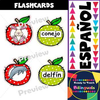 Spanish Alphabet Apple Cards FREEBIE