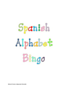 Spanish Alphabet Bingo