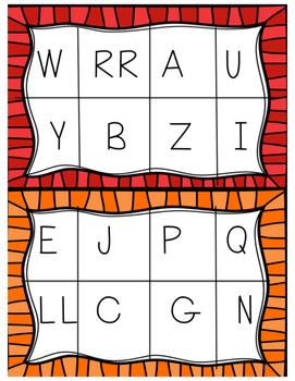 Spanish Alphabet Bingo- 32 Unique Boards