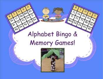 Spanish Alphabet Bingo & Alphabet Memory Games!