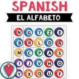 Spanish Alphabet - Spanish Bingo Game - Beginner Spanish