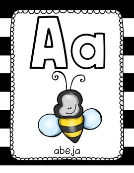 Spanish Alphabet (Black and White)