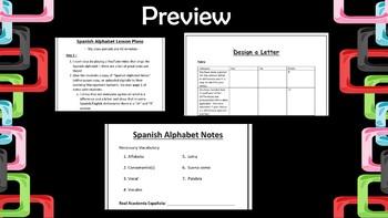 Spanish Alphabet Bundle with Project
