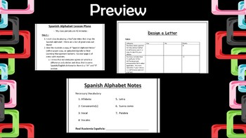 Spanish Alphabet Bundle with Project