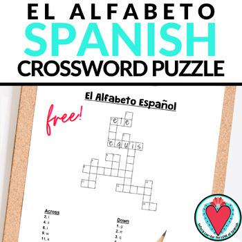 Spanish Alphabet CROSSWORD
