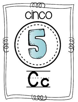 Spanish Alphabet Cards- Black Font
