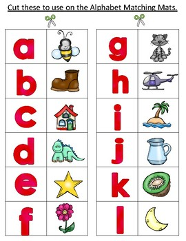 Spanish Alphabet Center or File Folder Games:  Sorting Mats