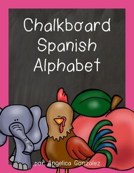 Spanish Alphabet (Chalkboard)