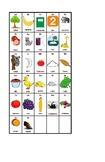 Spanish Alphabet Chart. Cartel del abecedario en español