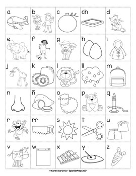 Spanish Alphabet Charts -  Set 1
