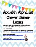 Spanish Alphabet Chevron Banner