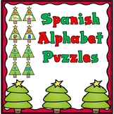 Spanish Alphabet Christmas Tree Puzzles