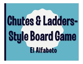Spanish Alphabet Chutes and Ladders-Style Game