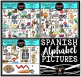 Spanish Alphabet Clip Art Mega Bundle {Educlips Clipart}