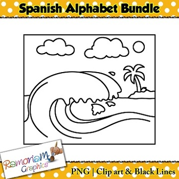 Spanish Alphabet Clip art