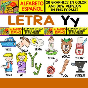 Spanish Alphabet Clipart Set - Bundle 2 - Letters from Ñ to Z