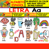 Spanish Alphabet Clipart Set - Letter A - 28 Items