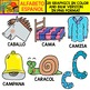 Spanish Alphabet Clipart Set - Letter C