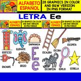 Spanish Alphabet Clipart Set - Letter E - 28 Items