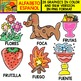 Spanish Alphabet Clipart Set - Letter F