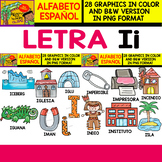Spanish Alphabet Clipart Set - Letter I - i - 28 Items