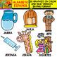 Spanish Alphabet Clipart Set - Letter J - 28 Items