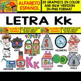 Spanish Alphabet Clipart Set - Letter K - 28 Items
