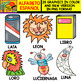 Spanish Alphabet Clipart Set - Letter L - 28 Items