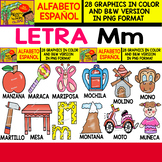 Spanish Alphabet Clipart Set - Letter M - 28 Items