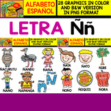 Spanish Alphabet Clipart Set - Letter Ñ - 28 Items