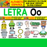 Spanish Alphabet Clipart Set - Letter O - 28 Items