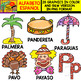 Spanish Alphabet Clipart Set - Letter P - 28 Items