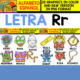 Spanish Alphabet Clipart Set - Letter R - 28 Items