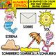 Spanish Alphabet Clipart Set - Letter S - 28 Items