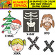 Spanish Alphabet Clipart Set - Letter X - 24 Items