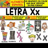 Spanish Alphabet Clipart Set - Letter X - 24 Items