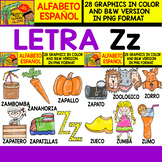 Spanish Alphabet Clipart Set - Letter Z - 28 Items