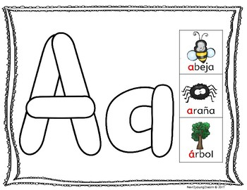 Spanish Alphabet: Colored Dough Mats