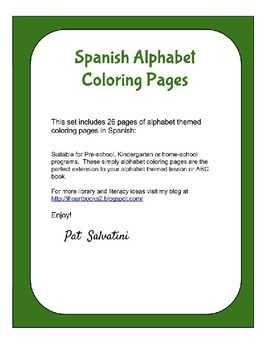 Spanish Alphabet Coloring Pages