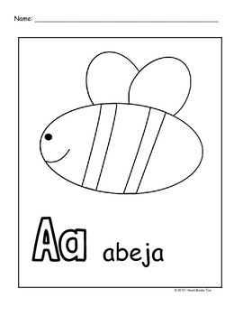 spanish alphabet coloring pages - Spanish Alphabet Coloring Pages