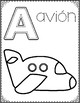 Spanish Alphabet Coloring Pages:  Letter of the Week Coloring Posters