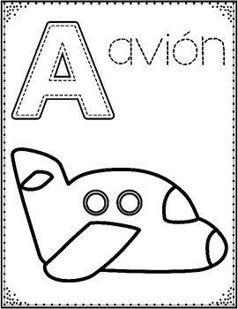 Spanish Alphabet Coloring Pages: Letter of the Week ...