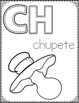 spanish alphabet coloring pages letter of the week coloring posters - Spanish Alphabet Coloring Pages