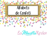 Spanish Alphabet Confetti Theme