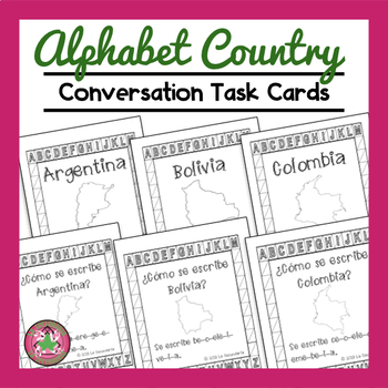 Spanish Alphabet Country Convo Cards